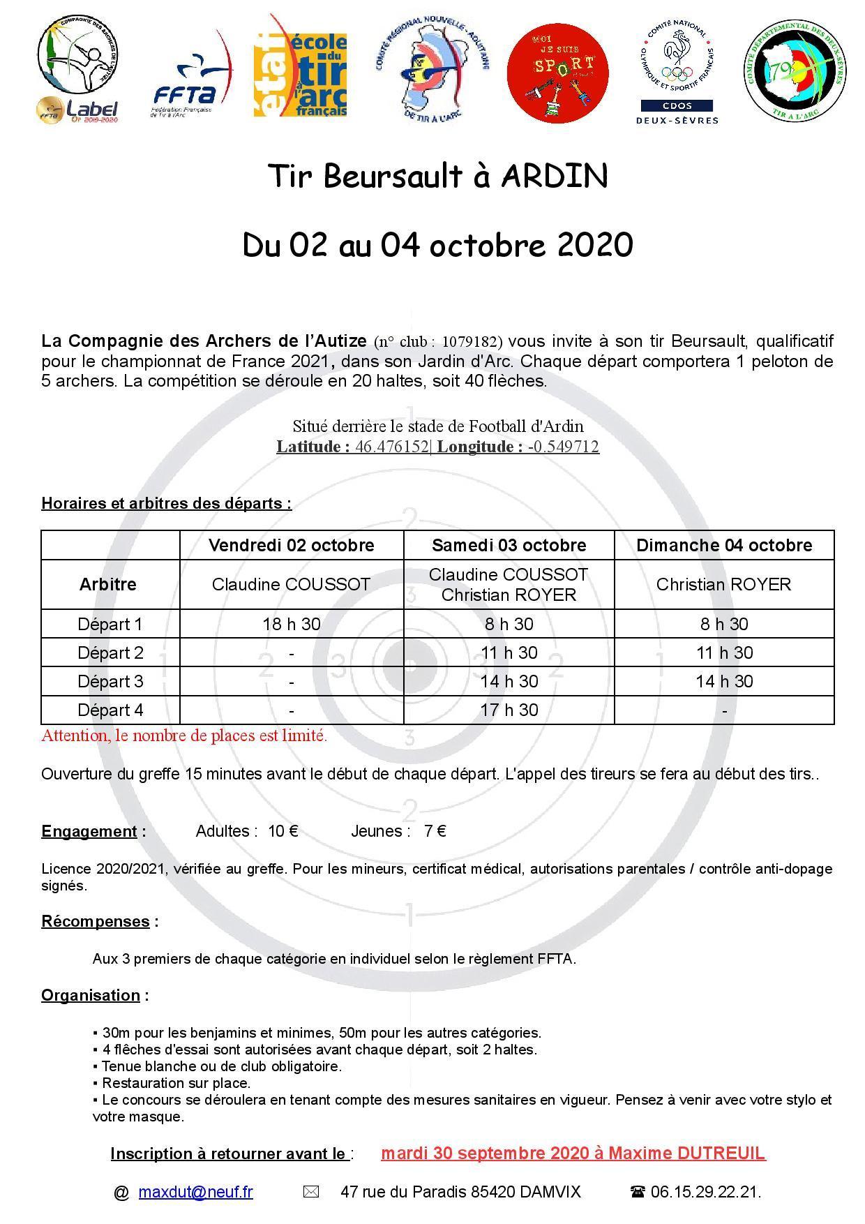 Mandat beursault 2020